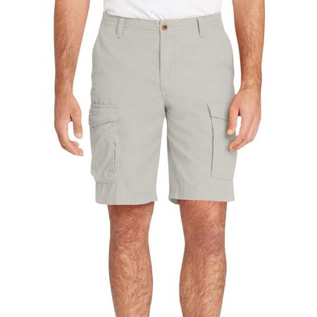 IZOD Mens Flat Front Mini Ripstop Shorts