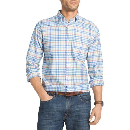 IZOD Mens Big & Tall Blithe Saltwater Shirt