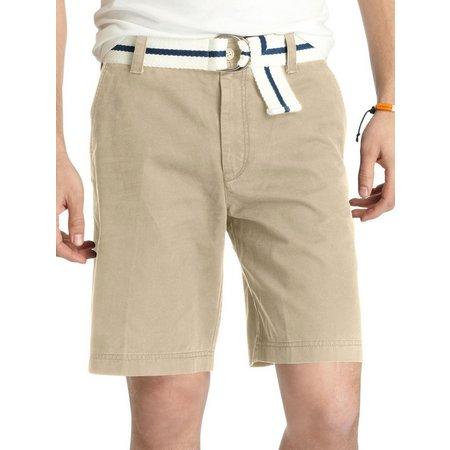 IZOD Flat Front Solid Shorts