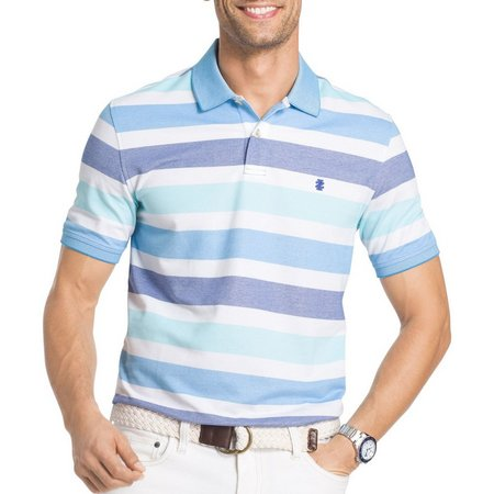 IZOD Mens Advantage Striped Performance Polo Shirt