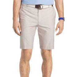IZOD Mens Flat Front Oxford Shorts