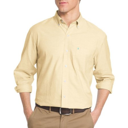IZOD Mens Classic Oxford Stretch Long Sleeve Shirt