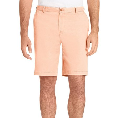 IZOD Mens Staight Fit Saltwater Chino Shorts
