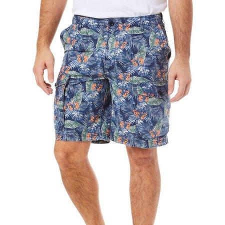 IZOD Mens Island Floral Cargo Shorts