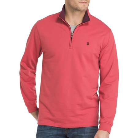 IZOD Mens Nauset Lightweight Zip Fleece Sweater