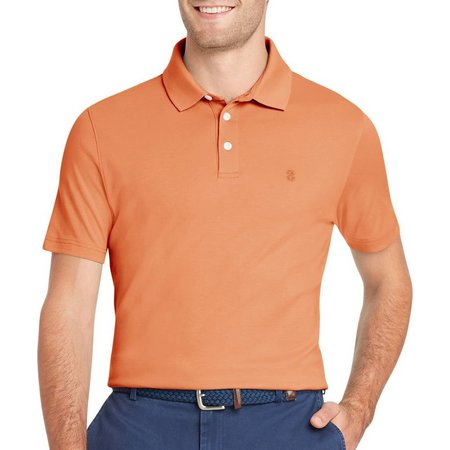 IZOD Mens Interlock Solid Polo Shirt