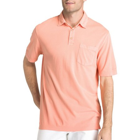 IZOD Mens Seaport Saltwater Pigment Polo Shirt