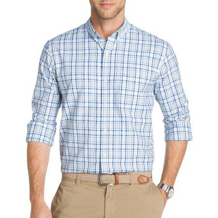 IZOD Mens Long Sleeve Plaid Saltwater Breeze Shirt