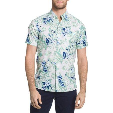 IZOD Mens Dockside Classic Fit Short Sleeve Shirt