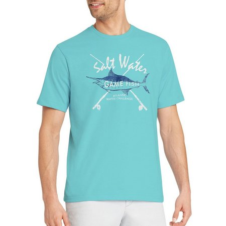 IZOD Mens Salt Water Game Fish T-Shirt