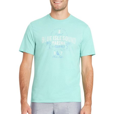 IZOD Mens Blue Isle Sound Marina Supply T-Shirt
