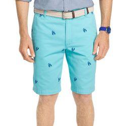 New! IZOD Mens Lobster Print Shorts