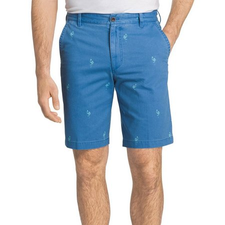 IZOD Mens Flamingo Print Shorts