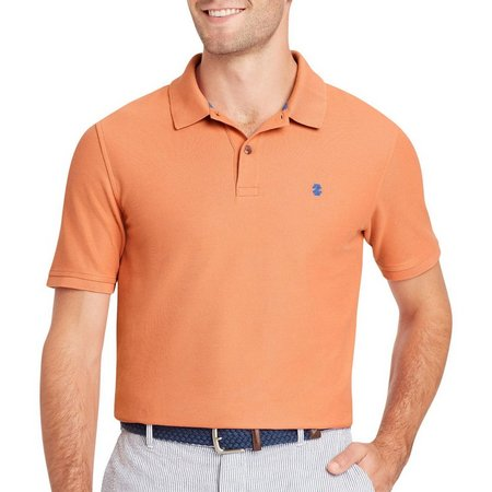 IZOD Mens Advantage Contrast Logo Polo Shirt