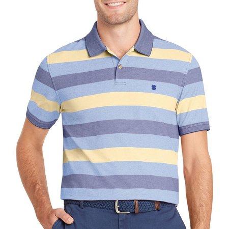 IZOD Mens SportFlex Sundress Striped Stretch Polo Shirt