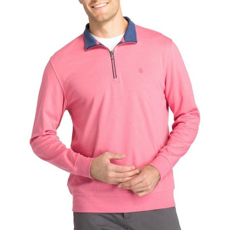 IZOD Mens Advantage Quarter Zip Sweater