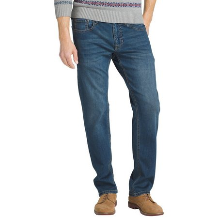 IZOD Mens Ultra Soft Sportflex Performance Jeans
