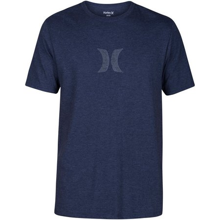 New! Hurley Mens Icon Push Through Obsidian T-Shirt