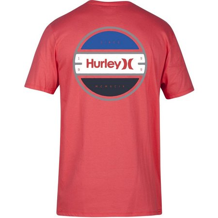 Hurley Mens Rolled Red T-Shirt
