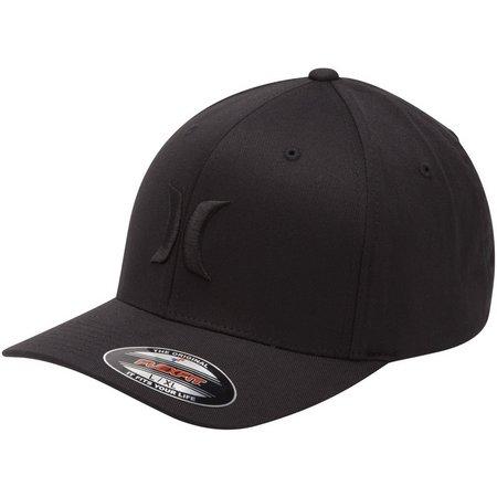Hurley Mens One & Only Flexfit Black Hat