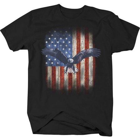 Authentic Classics Mens Eagle Flag T-Shirt
