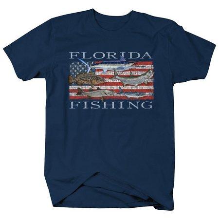 Authentic Classics Mens Florida Flag Fish T-Shirt