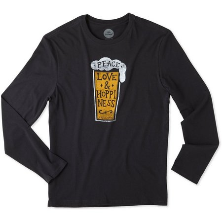Life Is Good Mens Hoppiness Long Sleeve Smooth