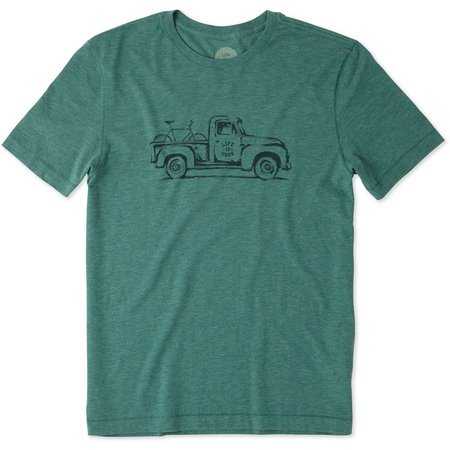 Life Is Good Mens Vintage Truck Cool T-Shirt