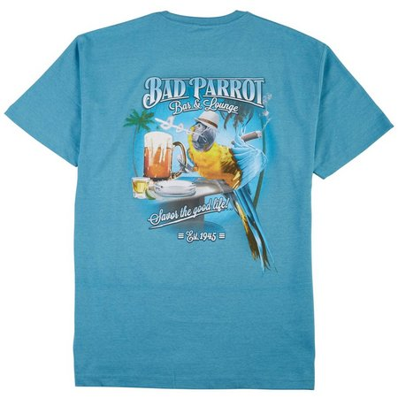 Paradise Shores Mens Bad Parrot Bar T-Shirt
