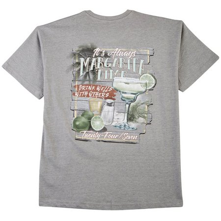 Paradise Shores Mens Always Margarita Time T-Shirt