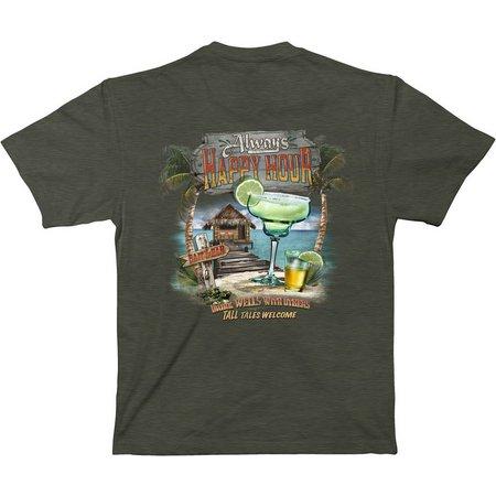 Paradise Shores Mens Always Happy Hour Bar T-Shirt