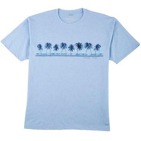 Paradise Shores Mens Palms & Fronds T-Shirt