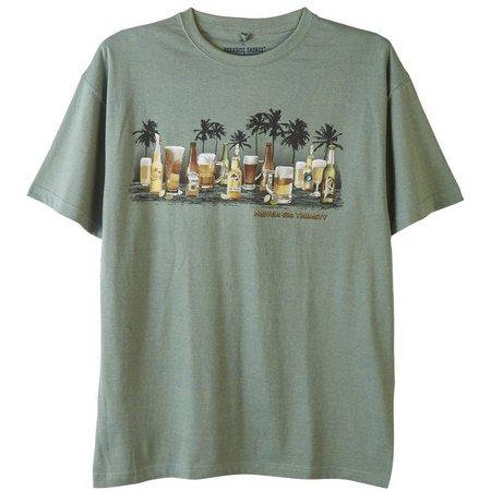 Paradise Shores Mens Never Go Thirsty T-Shirt