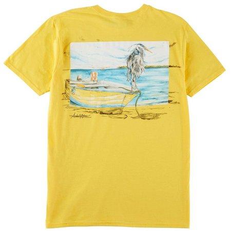 Amber Moran Mens Blue Heron T-shirt