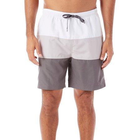 Boca Classics Mens Grey Colorblock Swim Shorts