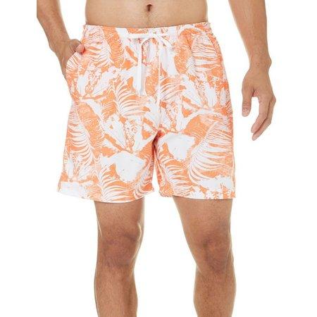 Boca Classics Mens Abstract Palm Swim Shorts