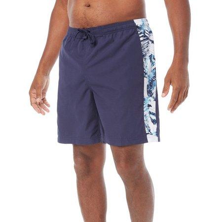 Boca Classics Mens Navy Floral Side Swim Shorts