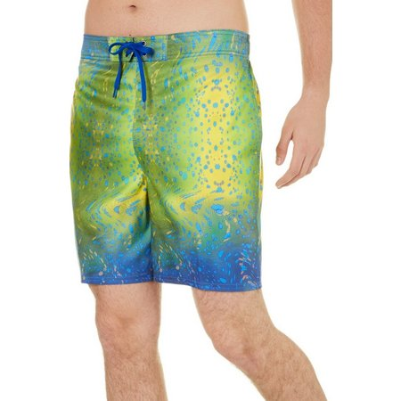 Reel Legends Mens Warped Dorado Swim Trunks