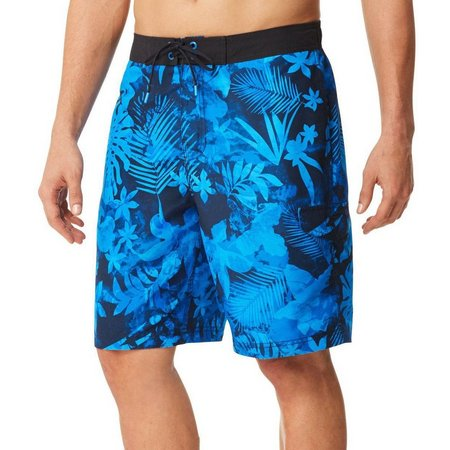 Speedo Mens Marble Daub Floral Swim Shorts