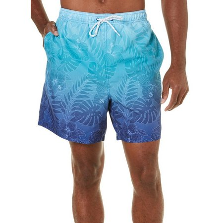 Boca Classics Mens Tropical Floral Leaf Ombre Swim