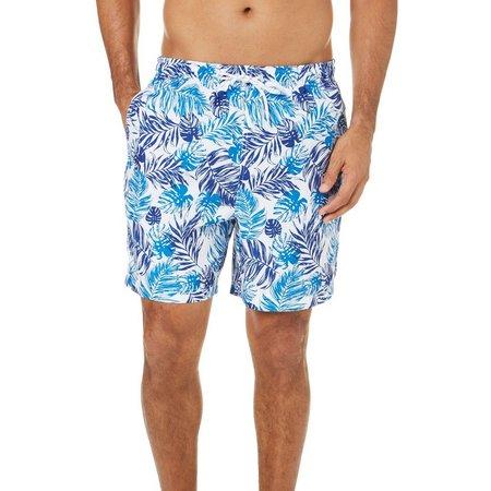 Boca Classics Mens Palm Frond Elastic Waist Swim