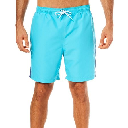 Boca Classics Mens Palm Panel Swim Trunks
