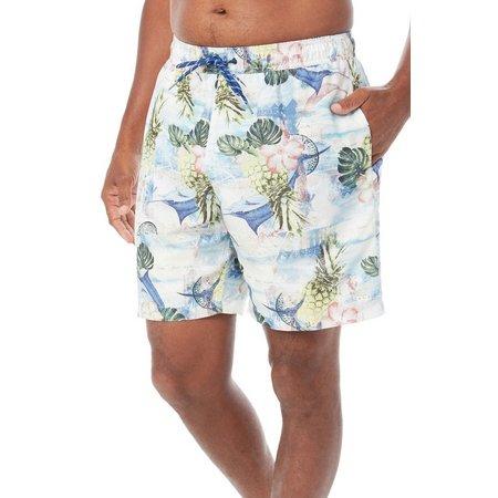 Caribbean Joe Mens Postage Volley Swim Shorts