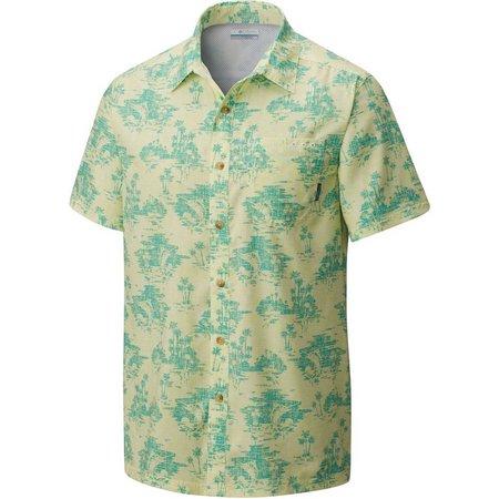 Columbia Mens Super Slack Tide Miami Camp Shirt