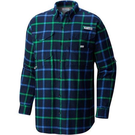 Columbia Mens Bonehead Plaid Flannel Shirt