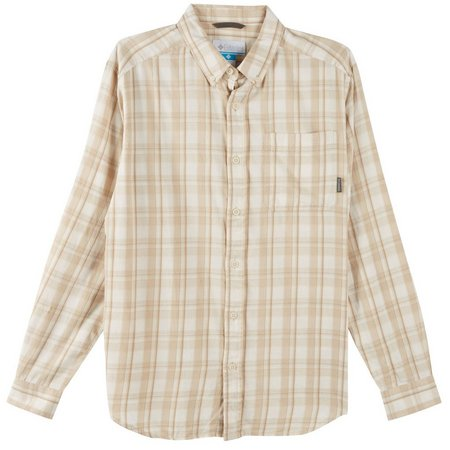 Columbia Mens Out And Back II Chalk Plaid