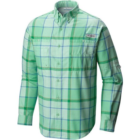 Columbia Mens Vented Flannel Tamiami Fishing Shirt