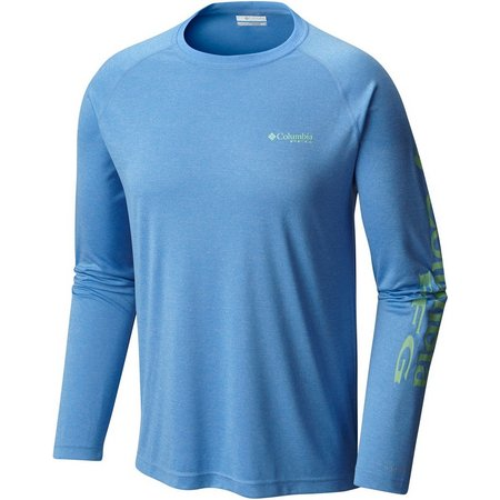 Columbia Mens Terminal Tackle Heather Long Sleeve T-Shirt