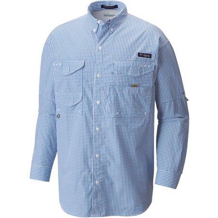 Columbia Mens Super Bonehead Wind Gingham Shirt
