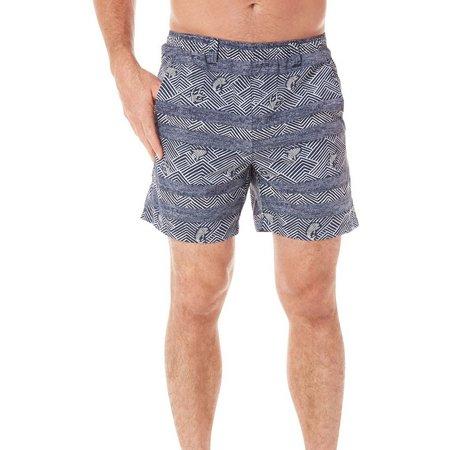 Columbia Mens PFG Backcast II Blue Water Shorts